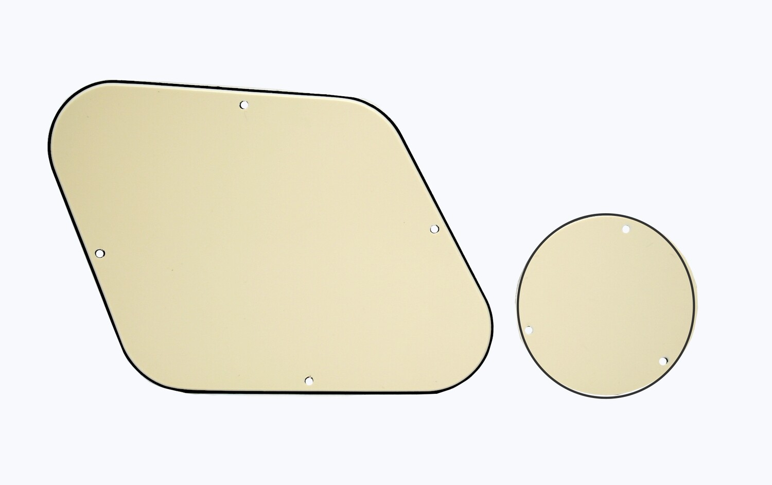 Brio Les Paul Backplate & Switch Cover Cream 3 Ply