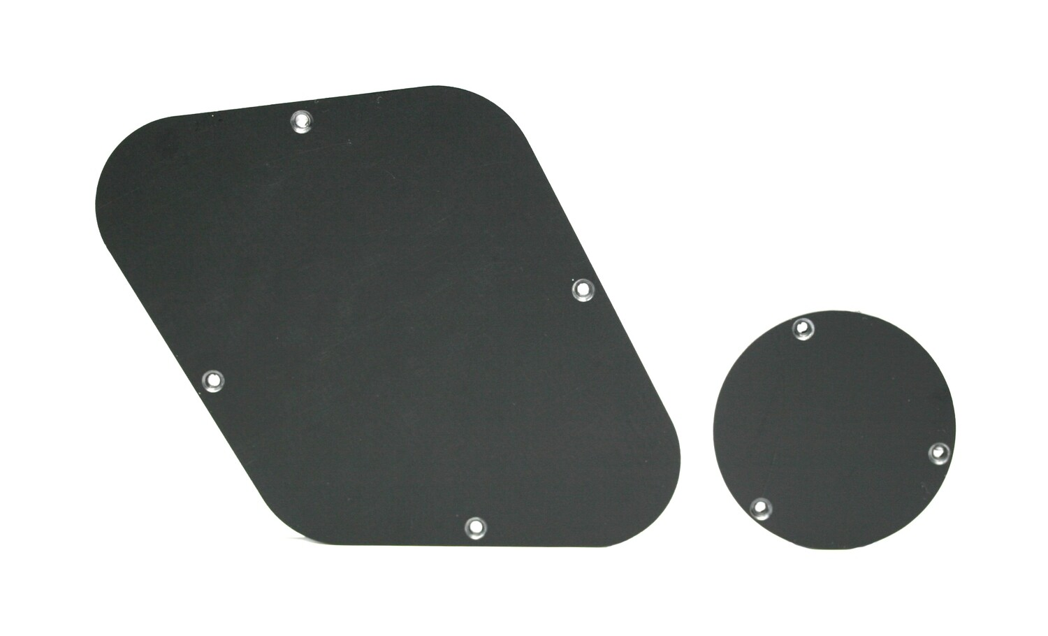 Brio Les Paul Backplate & Switch Cover Matte Black 1 Ply