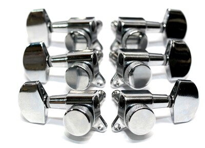 Brio 3x3 Chrome Locking Machine Heads Tuners 15:1 Ratio