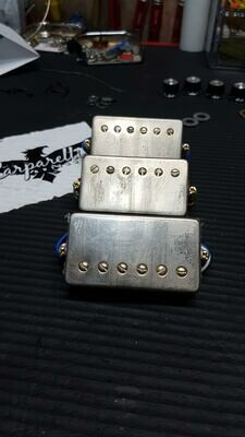 3 Reliced Humbucker Pickups Gold