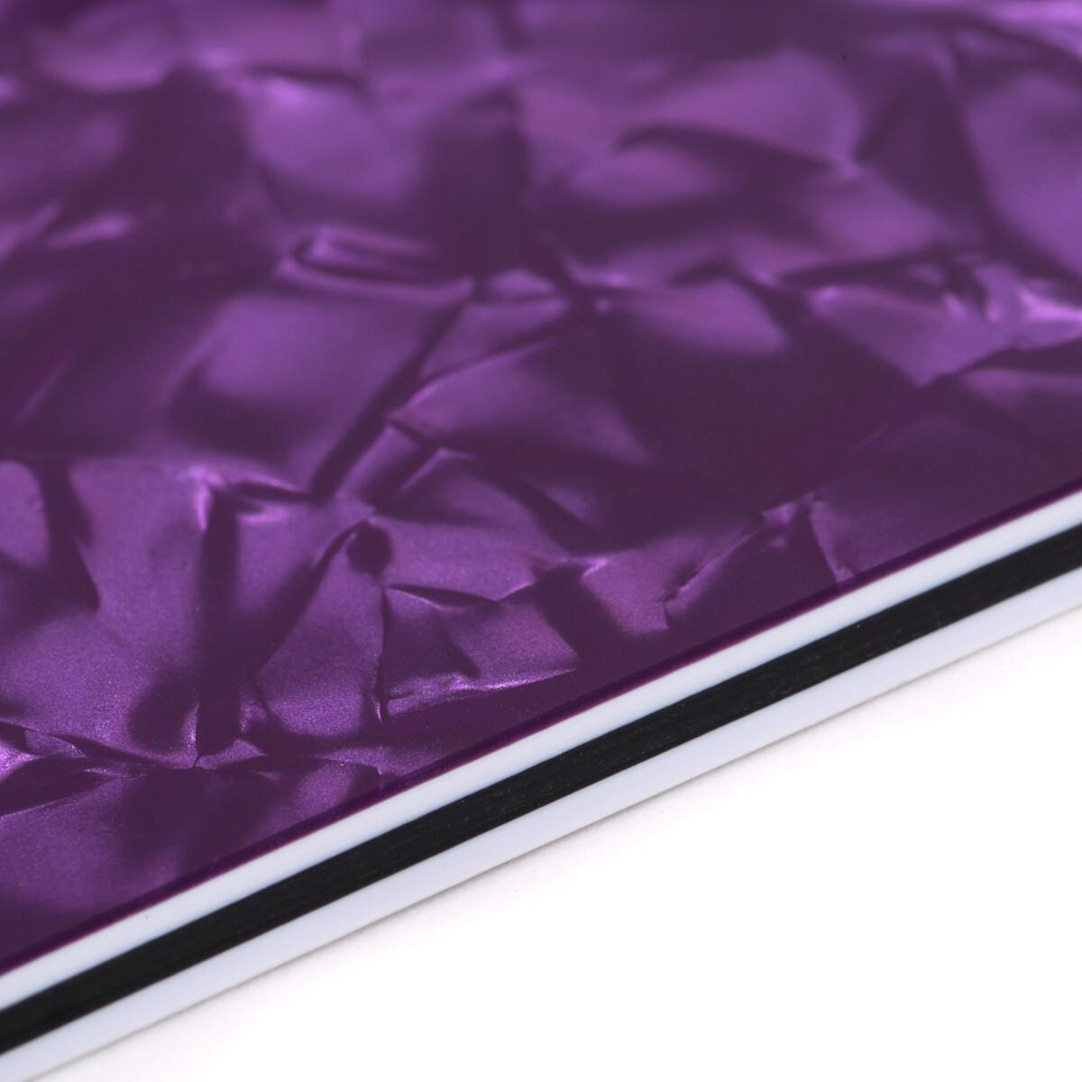 "Brio Pickguard Blanks 12"" x 17"" 4 Ply Pearloid Purple"