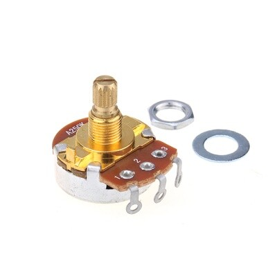 Brio Brass Shaft Full Metric Sized Control Pots A250K Audio Taper Potentiometers for Guitar