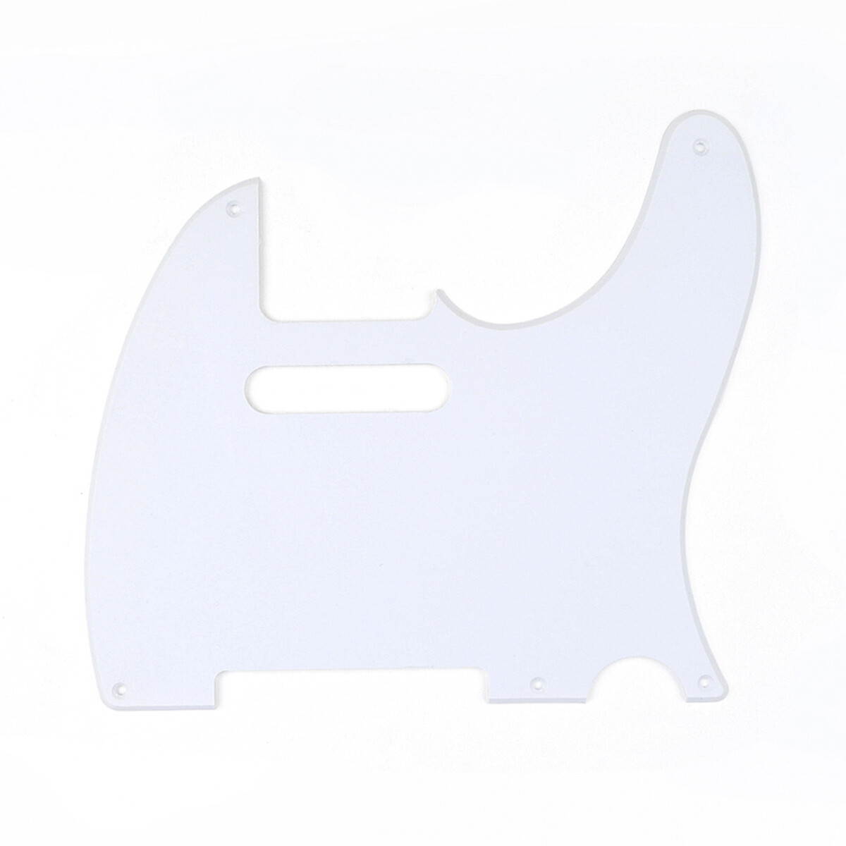 Brio 5 Hole Vintage Tele® Pickguard USA/Mexican Gloss White 1 Ply