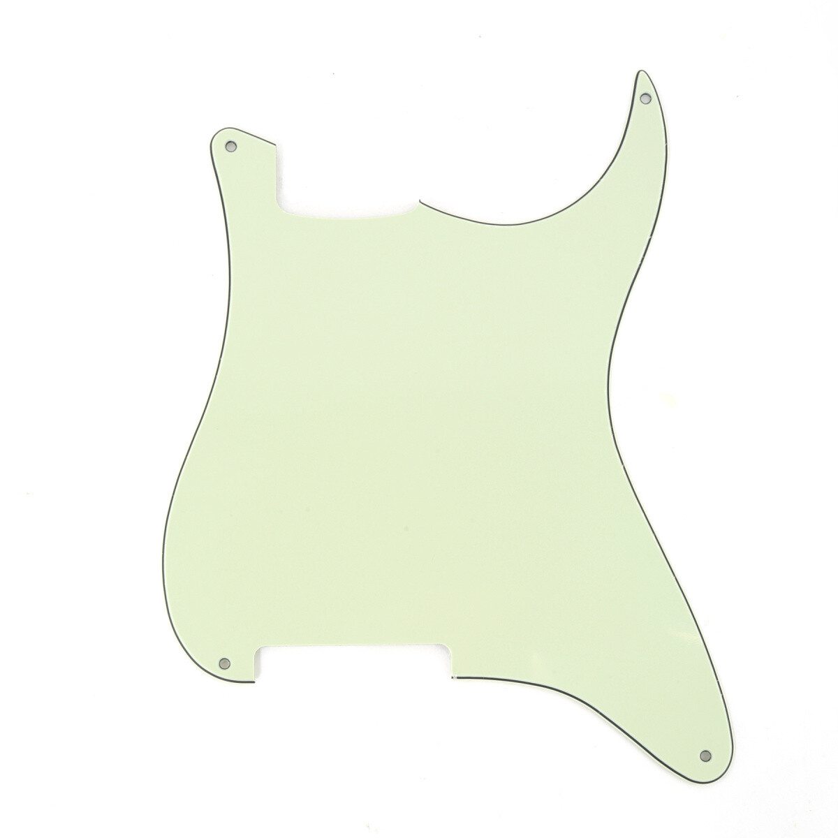 Brio Blank 4 hole outline pickguard for Strat®, 3 Ply Mint Green