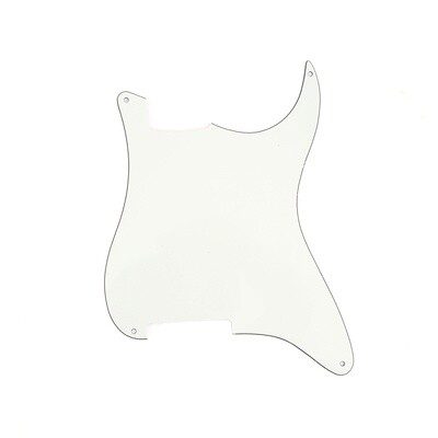 Brio Blank 4 hole outline pickguard for Strat®, 3 Ply Parchment (aged white)