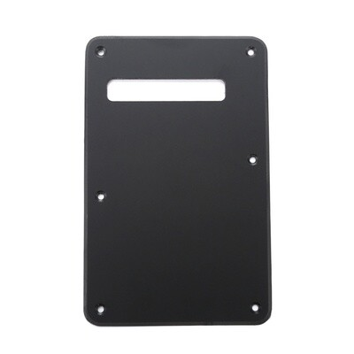 Matte Black Modern Style Back Plate Tremolo Cover 1 ply - US/Mexican Fender®Strat® Fit