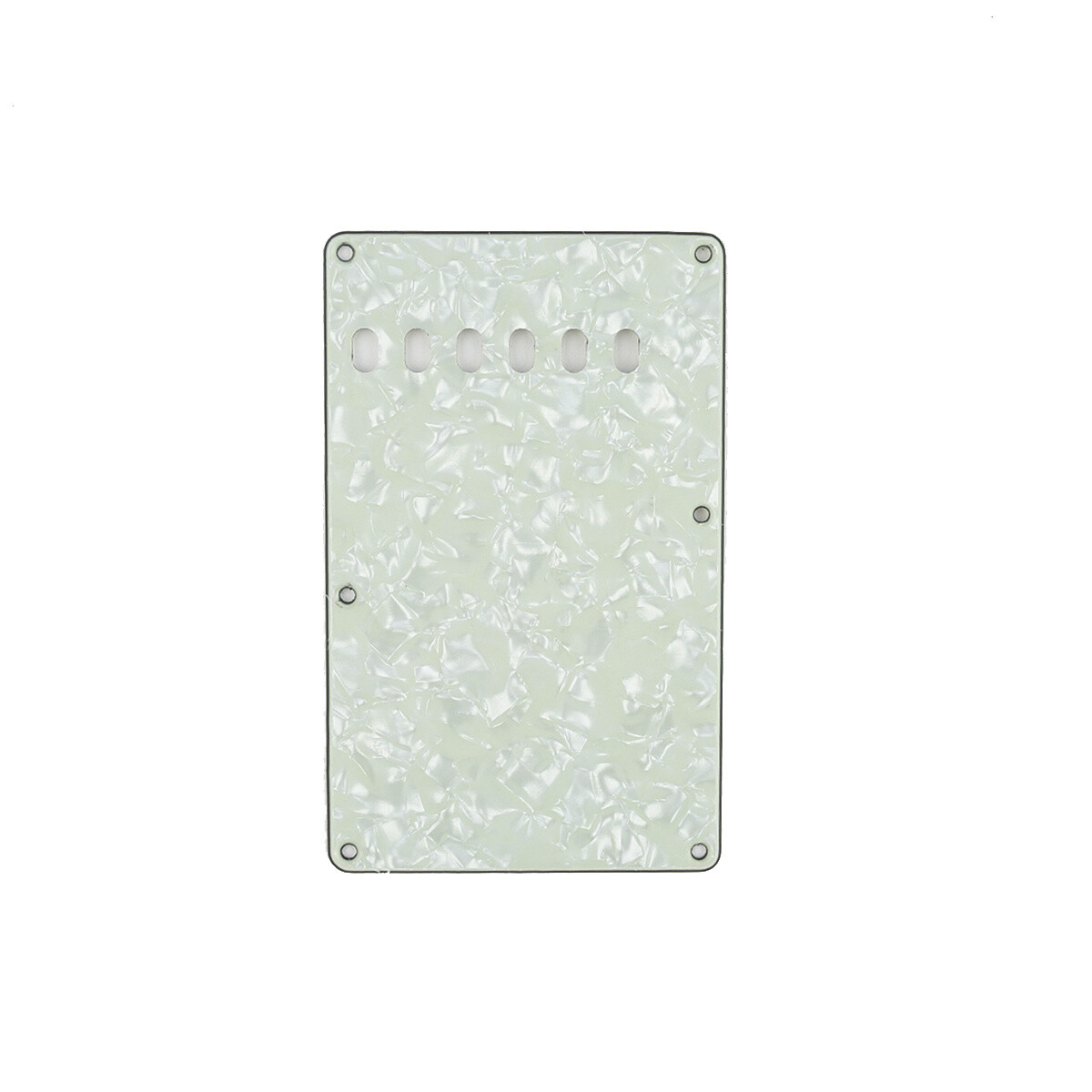 Pearl Mint Green Vintage Style Back Plate Tremolo Cover 4 ply - US/Mexican Fender®Strat® Fit