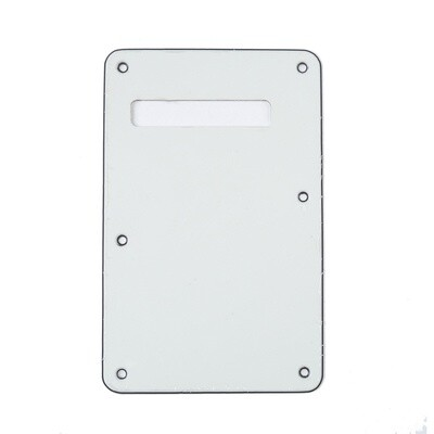 Parchment Modern Style Back Plate Tremolo Cover 3 ply - US/Mexican Fender®Strat® Fit