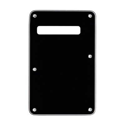 Black Modern Style Back Plate Tremolo Cover 3 ply - US/Mexican Fender®Strat® Fit
