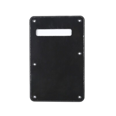 Black Modern Style Back Plate Tremolo Cover 1 ply - US/Mexican Fender®Strat® Fit