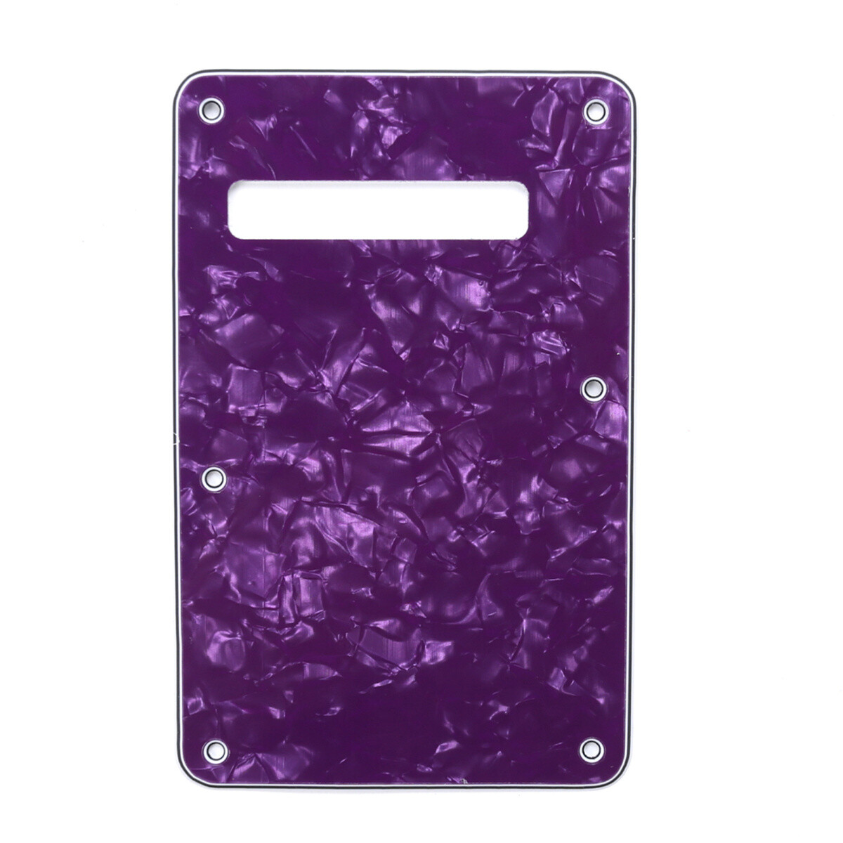 Brio Pearl Purple Modern Style Back Plate Tremolo Cover 4 ply - US/Mexican Fender®Strat® Fit