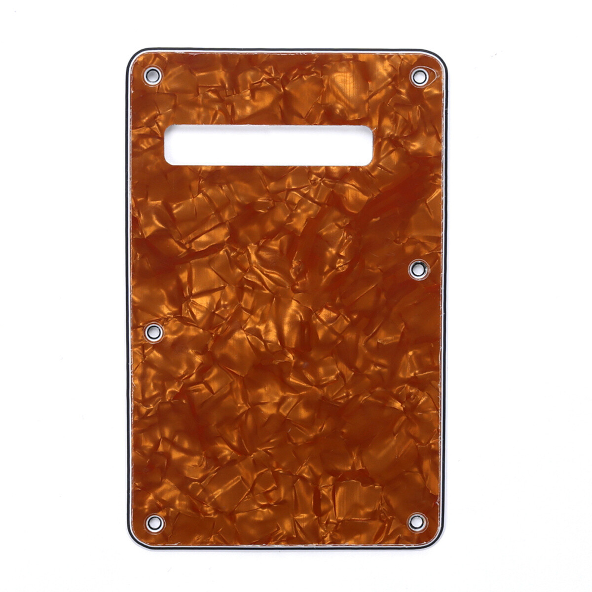 Brio Pearl Earthly Bronze Modern Style Back Plate Tremolo Cover 4 ply - US/Mexican Fender®Strat® Fit