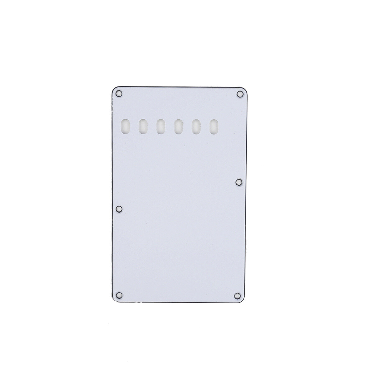 Brio White Vintage Style Back Plate Tremolo Cover 3 ply - US/Mexican Fender®Strat® Fit