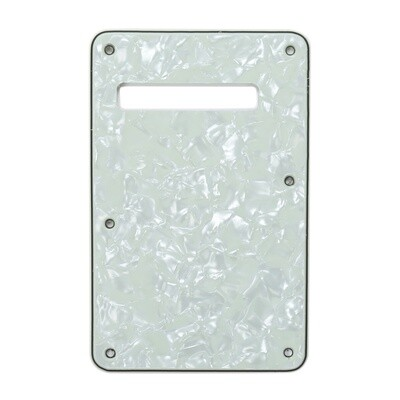 Brio Pearl Mint Modern Style Back Plate Tremolo Cover 4 ply - US/Mexican Fender®Strat® Fit
