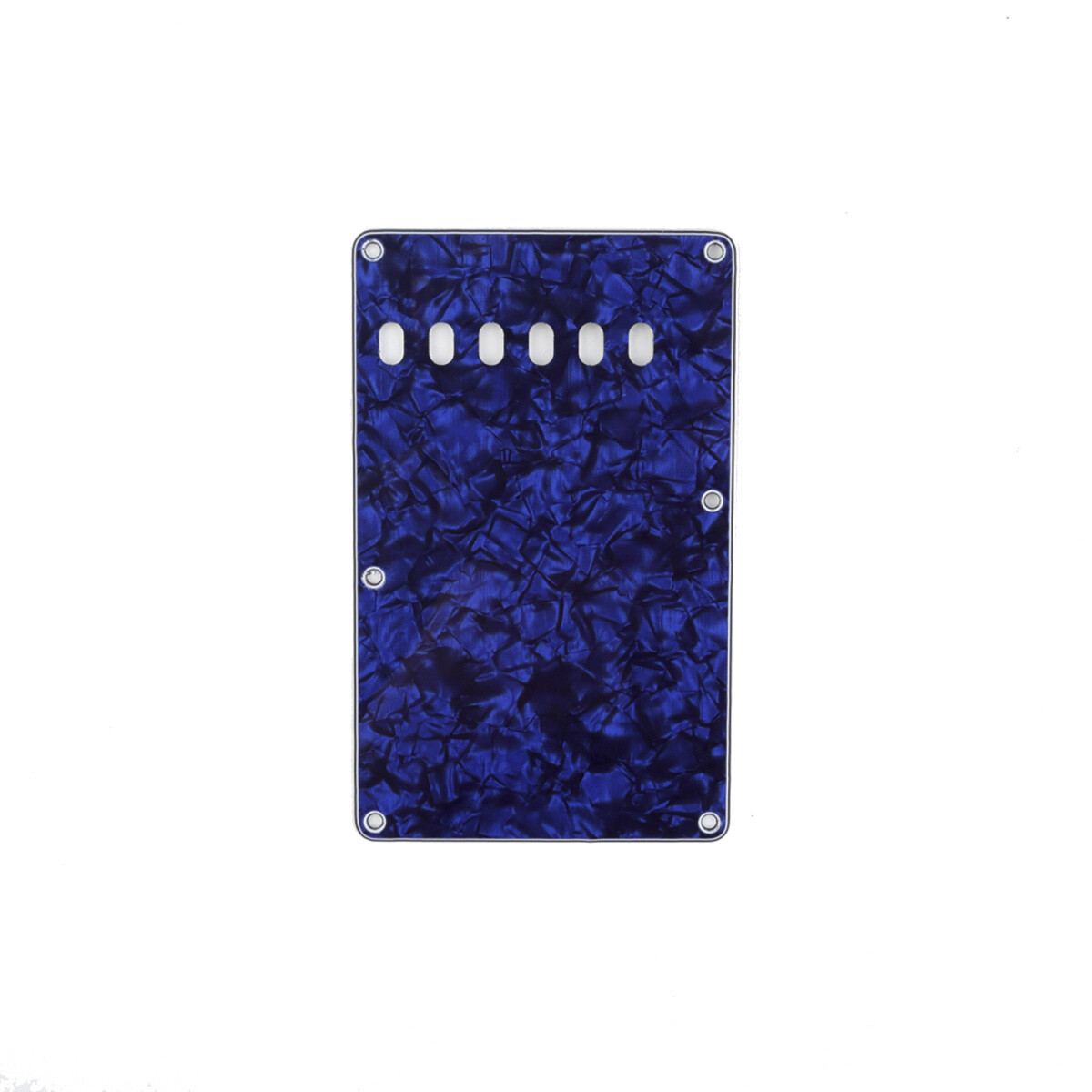 Brio Pearl Blue Vintage Style Back Plate Tremolo Cover 4 ply - US/Mexican Fender®Strat® Fit