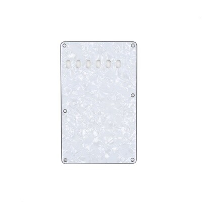 Brio Pearl White Vintage Style Back Plate Tremolo Cover 4 ply - US/Mexican Fender®Strat® Fit