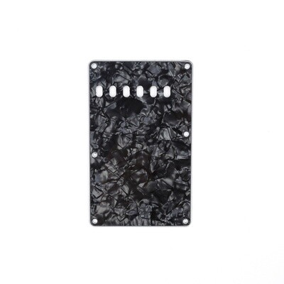 Brio Pearl Black Vintage Style Back Plate Tremolo Cover 4 ply - US/Mexican Fender®Strat® Fit