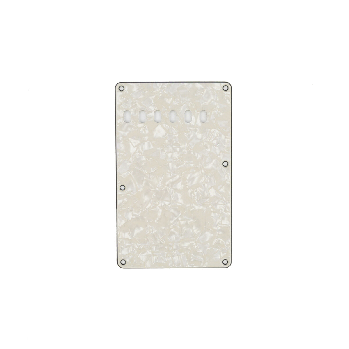 Brio Aged White Pearl Vintage Style Back Plate Tremolo Cover 4 ply - US/Mexican Fender®Strat® Fit