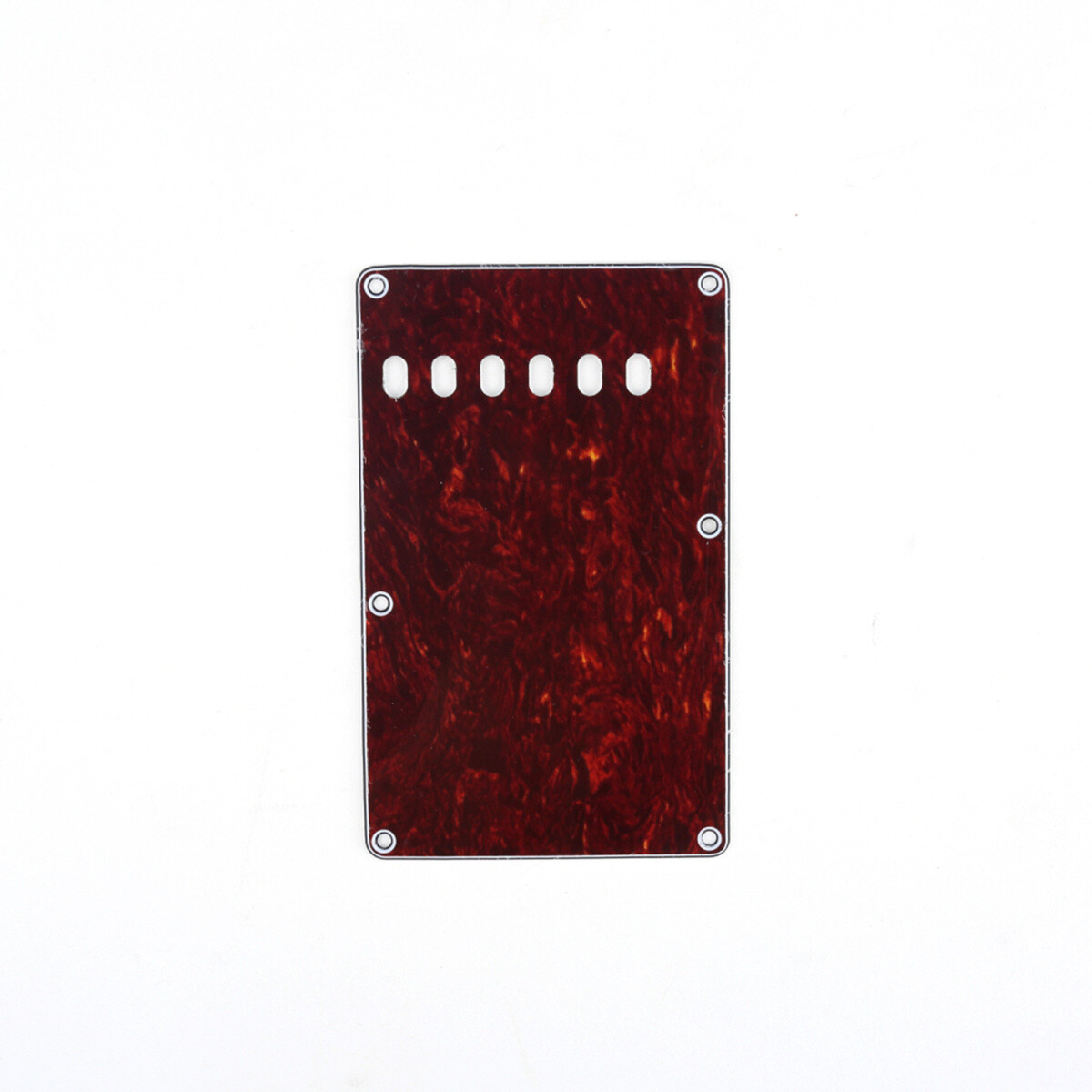 Brio Red Tortoise Vintage Style Back Plate Tremolo Cover 4 ply - US/Mexican Fender®Strat® Fit