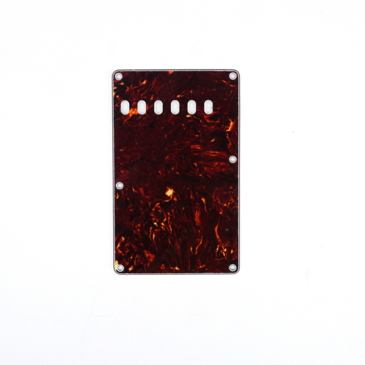 Brio Brown Tortoise Vintage Style Back Plate Tremolo Cover 4 ply - US/Mexican Fender®Strat® Fit