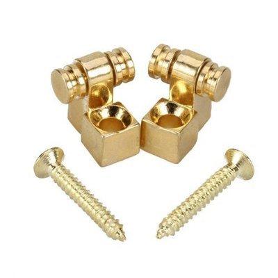 Brio Set of 2 Gold Roller String Retainer Trees Guitar Parts