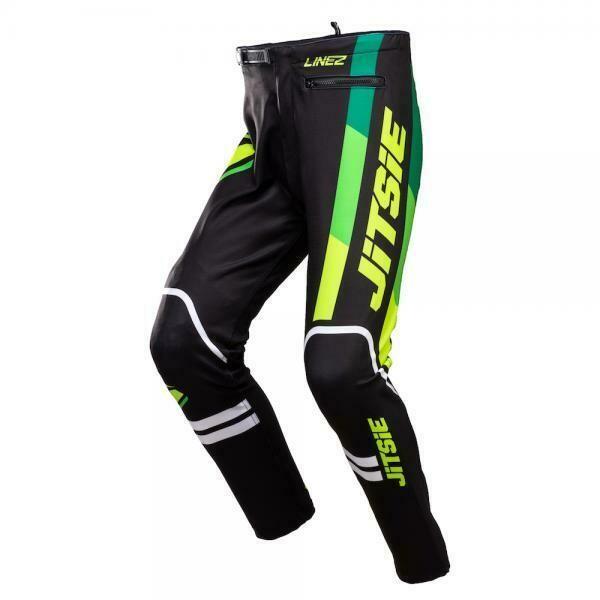 New* Jitsie L3 Lines Pants Green/Black/White