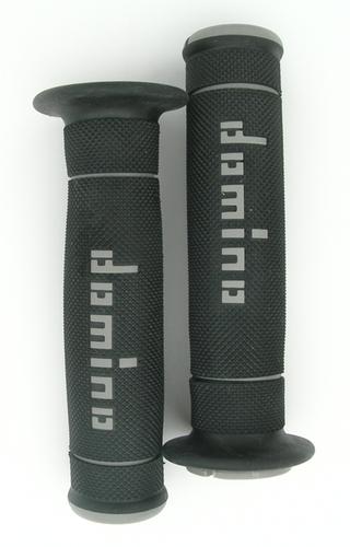 Domino Trials Grips - Black/Grey