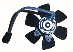 Cooling Fan - Motor with Fan Blades - Early liquid cooled bikes