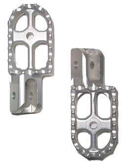 Aluminum Footpegs - Cast - Tryals Shop Series 3 - (Set of 2)