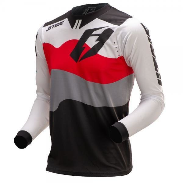 Jitsie T3 Wave Jersey Red/ White