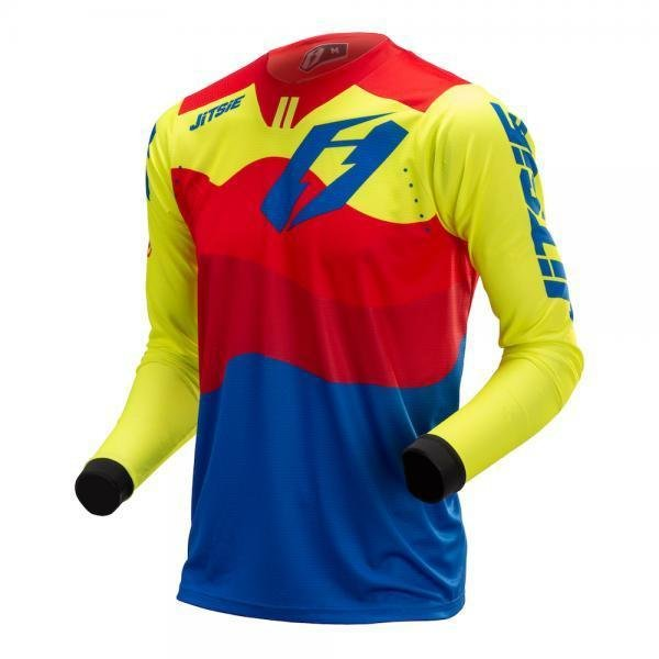 Jitsie T3 Wave Jersey Red, Fluo Yellow, Blue