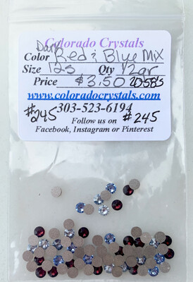 Swarovski Red & Blue crystal combo pack