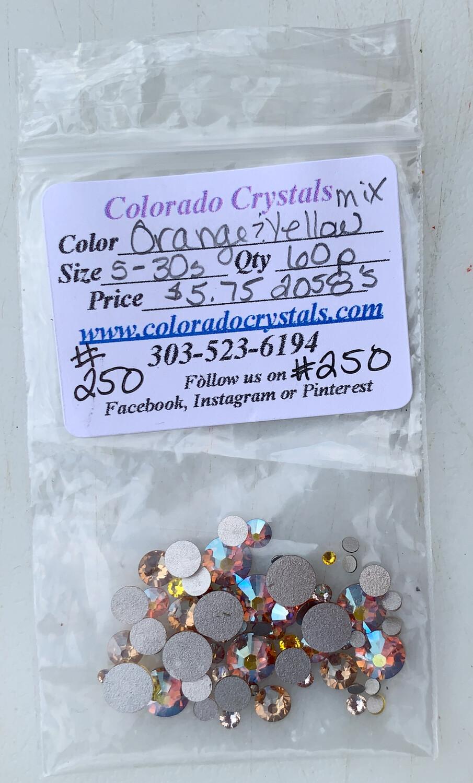 Orange & Yellow Mix Crystals Swarovski