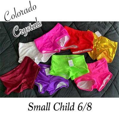 Child Small 6/8 Dance, Cheer Or Gymnastics Shorts custom made