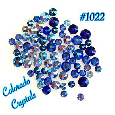 Blue Mix 2088 Swarovski rhinestones