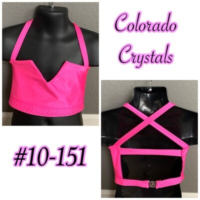 Custom made Hot Pink Bra top Child Toddler Size small new