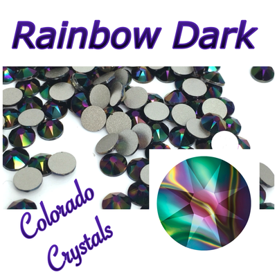 Rainbow Dark (Crystal) 12ss Limited Multicolored Swarovski