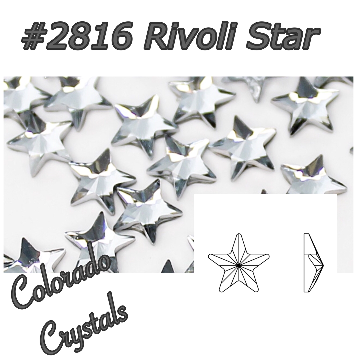 2816 Rivoli Star Swarovski Flat Back Crystal 5mm