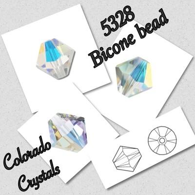 5328 Bicone Bead 4mm - Crystal AB - Swarovski