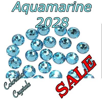Aqua (Aquamarine) Clearance Swarovski Rhinestones 5ss