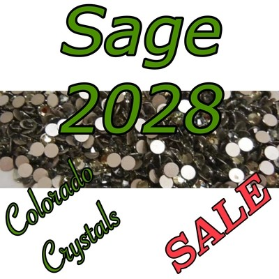 Sage (Crystal) Swarovski clearance Rhinestones 20s