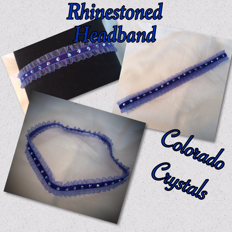 Rhinestoned headband Swarovski - Blue