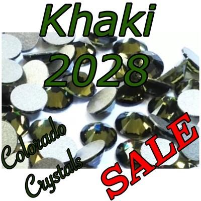 Khaki Swarovski Clearance Rhinestones 20ss