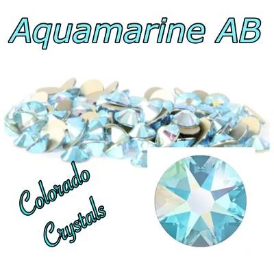 Aqua AB 12ss (Aquamarine AB) 2058 On Sale Swarovski Crystals