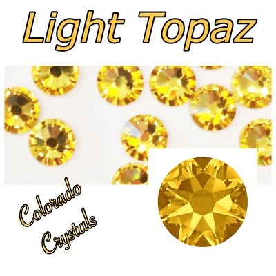 Light Topaz 30ss 2058 Swarovski Mark Down Bling