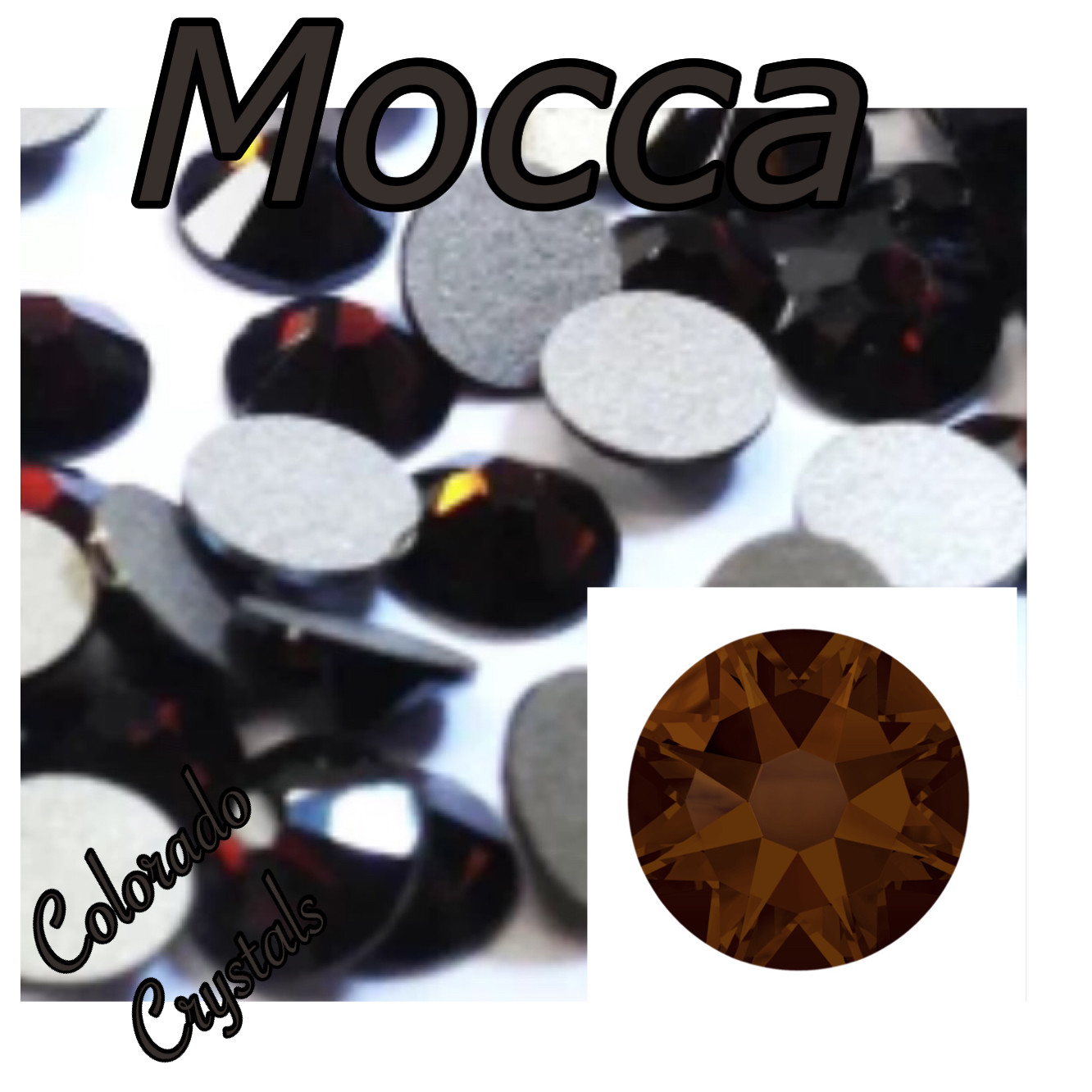 Mocca 12ss 2058 Swarovski Price Reduced Brown Crystals