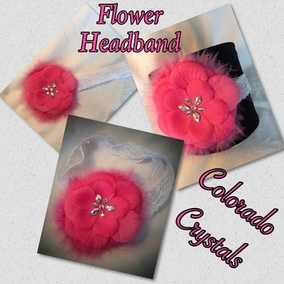 Headband with Swarovski Crystals added