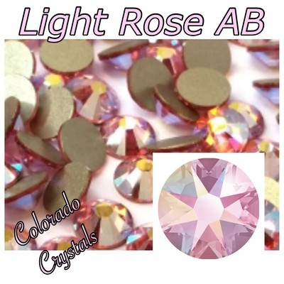Light Rose AB 16ss 2088 Pink Rhinestones Swarovski