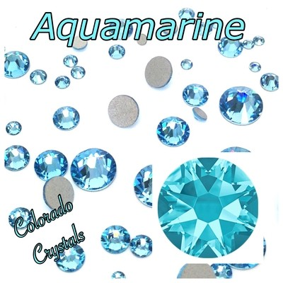 Aqua 7ss (Aquamarine) 2058 Limited Swarovski Nail Art Blue