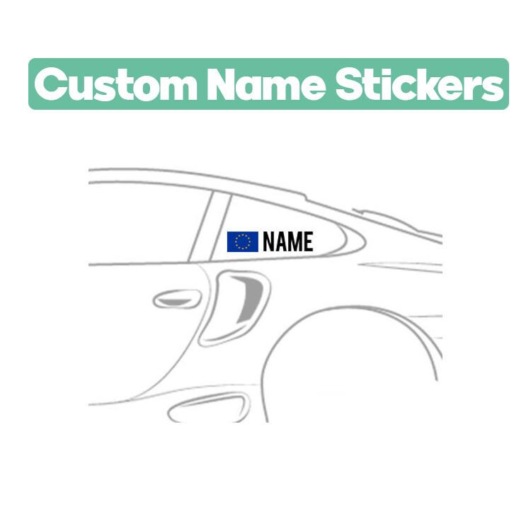 .Custom Driver Name Stickers